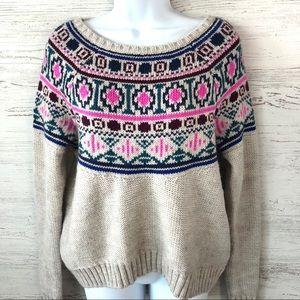 AMERICAN EAGLE Fair isle Chunky Knit Sweater